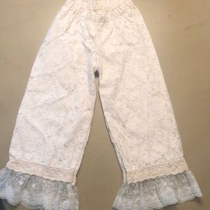 Girls Lace overlay pants